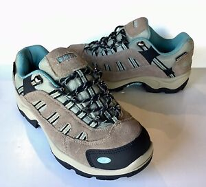 be719f7f57c Details about NEW HI-TEC Womens 9.5 Bandera Low Hiking Shoe Boot Waterproof  Teal Brown Suede