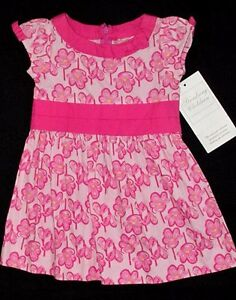 Nwt Boutique Strasburg Poppy Floral 6 12 M Mo Dress Pink Yellow Baby