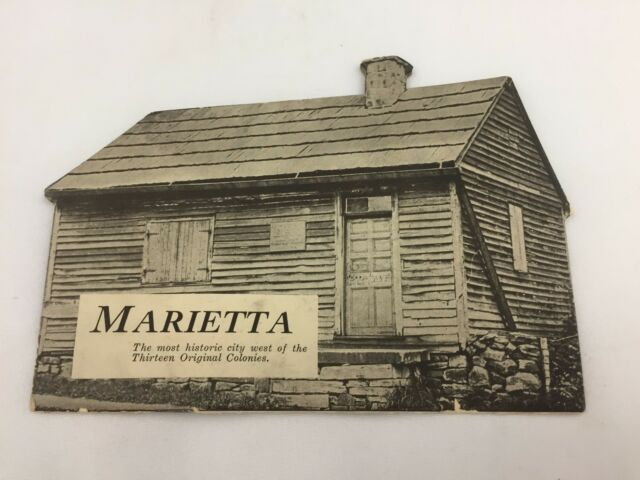 MARIETTA, OHIO-THE MOST HISTORIC CITY WEST OF 13 ORIGINAL COLONIES-HOUSE SHAPED