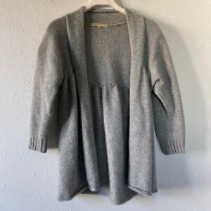 Vince-Women-039-s-Gray-Cashmere-Open-Front-Sweater-Cardigan-Medium