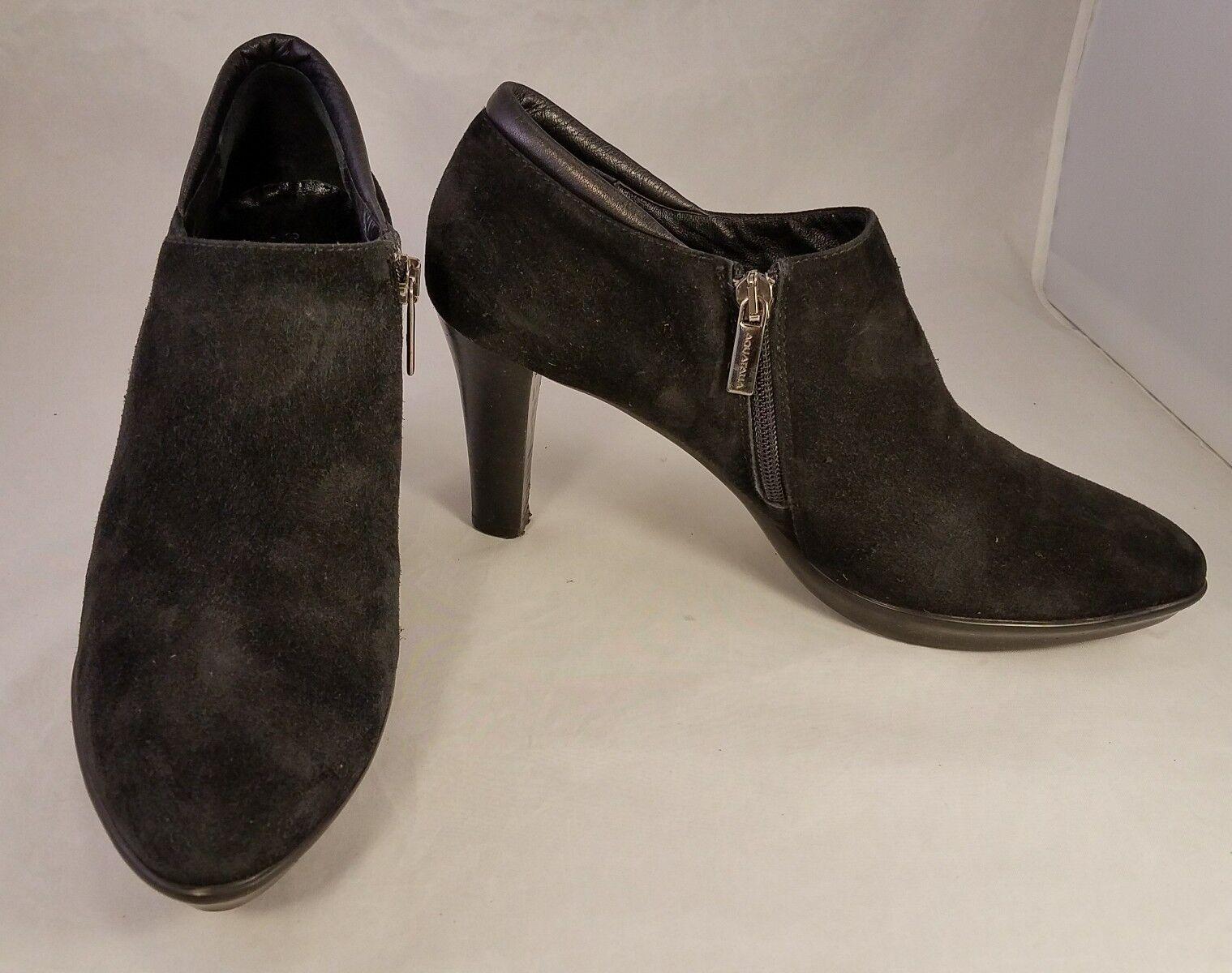 AQUATALIA AQUATALIA AQUATALIA MARVIN K WOMAN ANKLE Stiefel SUEDE schwarz SIDE ZIPPER USA Größe 9.5 ITALY 5821e5