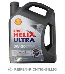 Motoröl Shell Helix Ultra ECT C2/C3 MB VW 0W-30 5 Liter 5L