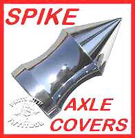 ROAD GLIDE CHROME SPIKE AXLE COVERS for HARLEY /'08-2019 ROADKING STREET GLIDE