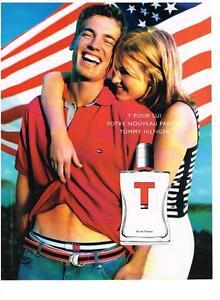 PUBLICITE ADVERTISING  2002    TOMMY HILFIGER  boutique parfums eau de toilette