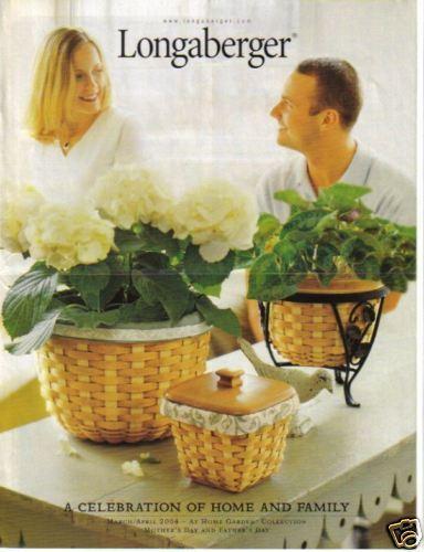 Longaberger FLYER ~ Mom/'s Dad/'s Day ~ MAR APR 2004 Brochure Catalog Advertising