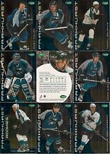 2001-02 Parkhurst by ITG San Jose Sharks Regular Team Set (11)