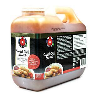 Lucky-LABEL-SWEET-Chilli-peperoncino-Salsa-2-L-da-THAILAND-originale-dolce-chillisauce