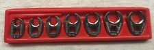 Snap On 38 Drive 6 Point Sae Flare Nut Crowfoot Wrench Set