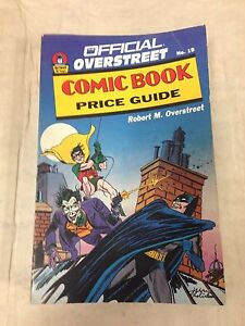 1989 official overstreet comic book price guide 19 batman the joker rh ebay com overstreet comic book price guide 47 pdf overstreet comic book price guide 1970