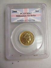 2000  MILLENNIUM GOLD SOVEREIGN  1ST STRIKE PCGS MS67