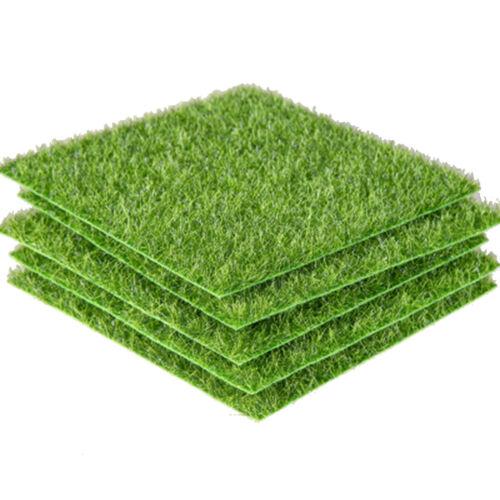 Artificial Green Lawn Grass Mat Indoor Outdoor Turf Micro Landscape Decor G6O