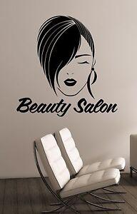Beauty salon logo wall decal woman face vinyl window sticker shop image is loading beauty salon logo wall decal woman face vinyl thecheapjerseys Gallery