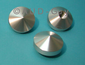 J-A-MICHELL-GyroDec-amp-Orbe-Silver-Turntable-Feet-set-of-three