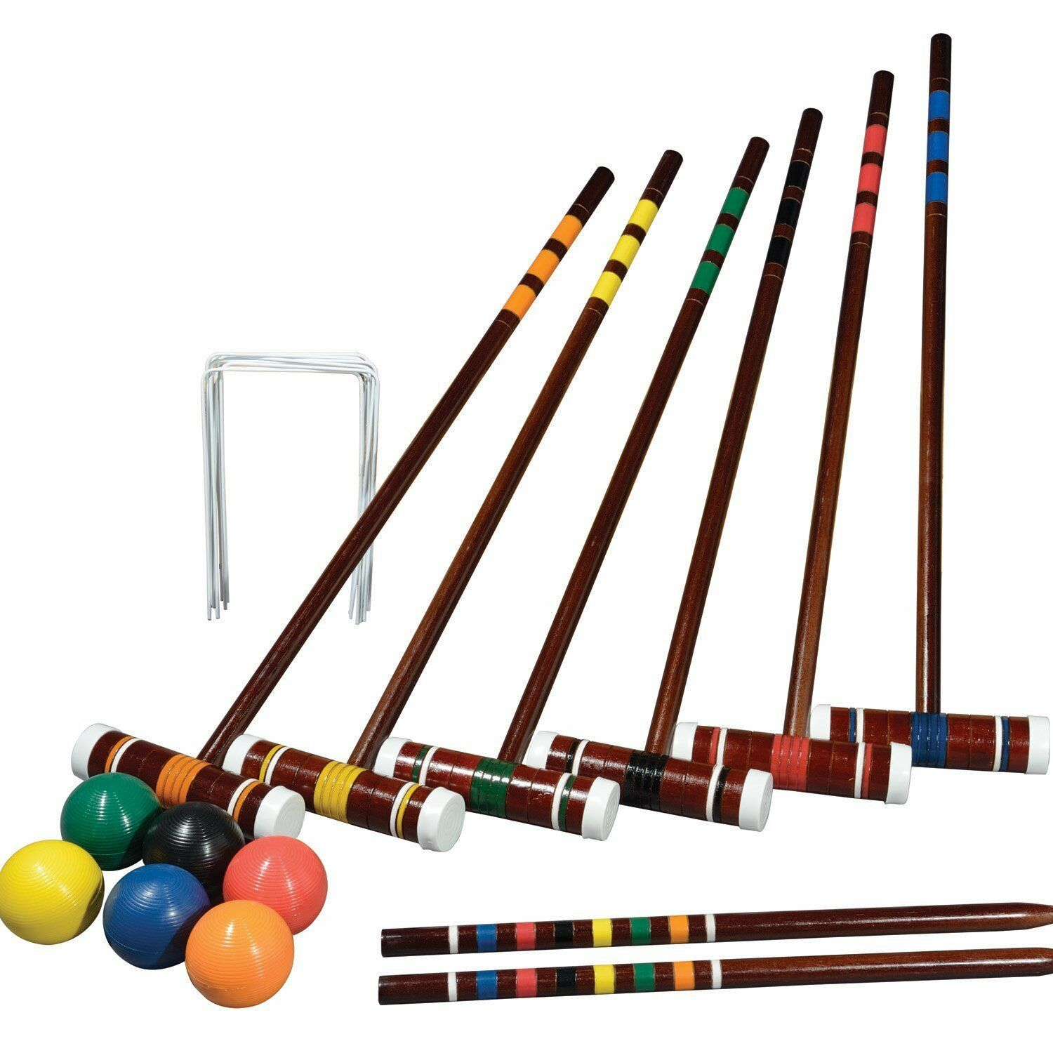 Intermediate Croquet Set 2-6 Players Portable Carry Bag Storage Family & Friends