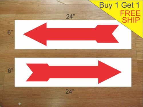 """ARROW 6/""""x24/"""" REAL ESTATE RIDER SIGNS Buy 1 Get 1 FREE 2 Sided Corrugated Plastic"""