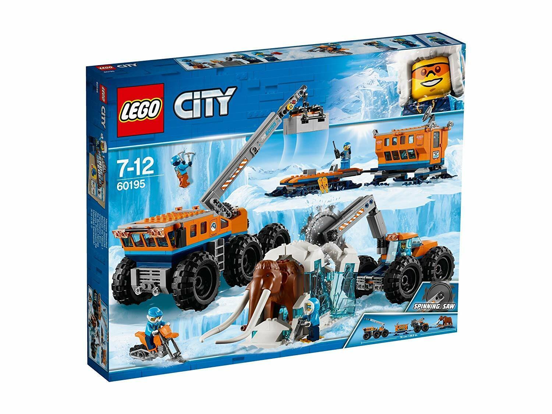 LEGO City Arctic Mobile Exploration Base Vehicle Crane Trailer Woolly Mammoth