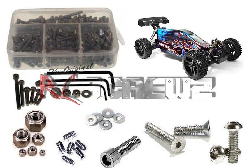 RC Screwz RCR013 rossocat  Racing Rampage XB-E completare Stainless Hardware Kit  benvenuto a scegliere