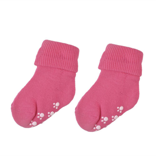 Candy Color Cotton Kids Socks Soft Anti Slip Socks Baby Girls Boys Socks
