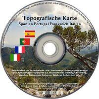 Topo Karte Garmin Frankreich Portugal Spanien Italien Wandern Geocaching Gps Map