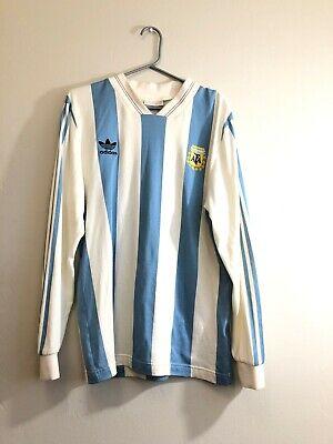 Adidas Original Argentina 1987 CE2341 MARADONA Soccer Jersey Long Sleeve - M | eBay