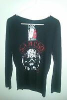 Authentic Soa Forever- Long Sleeve-vneck T-shirt - Sons Of Anarchy Samcro