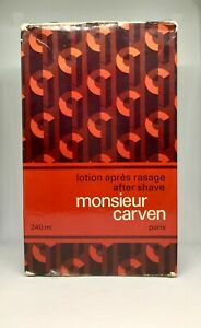 Monsieur-Carven-After-Shave-Lotion-240ml-non-Spray-Neuf-amp-Rare