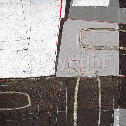 Ewald Kuch  blanc FIELD Abstrait terminé-image 70x70 la fresque