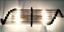 Ancien-Old-Art-Deco-Skyscraper-Laiton-amp-Glass-Rod-Lumiere-Appliques-murale-Lampe miniature 3