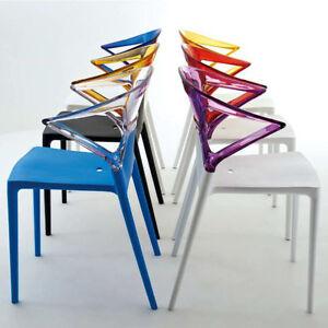 Sedia policarbonato trasparente design kartell cucina ristorante min 4 pezzi ebay - Kartell sgabelli cucina ...