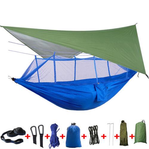 Rain Cover Waterproof Tent Tarp Outdoor 18Pcs//Set Camping Hammock Mosquito Net