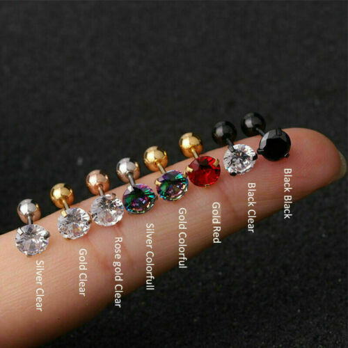 Cartilage Earring Conch Tragus Stud Helix Cartilage Piercing Crystal  Jewelry