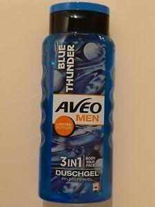 Aveo-Men-BLUE-THUNDER-3IN1-Duschgel-Body-Hair-Face-Limited-Edition-300ml