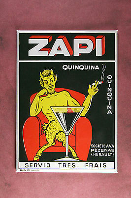 Zapi Quinquina Magnet - Art from 1930s French Aperitif Label by Boudet Art Deco