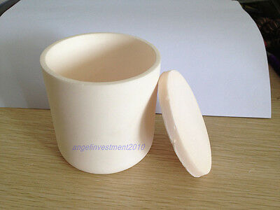 New Alumina (99.5%AL2O3 ) Ceramic Cylinder Crucible D30*H30mm+Lid