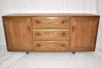 Vintage retro 60's Ercol ercol windsor sideboard side cabinet cupboard mdl 455