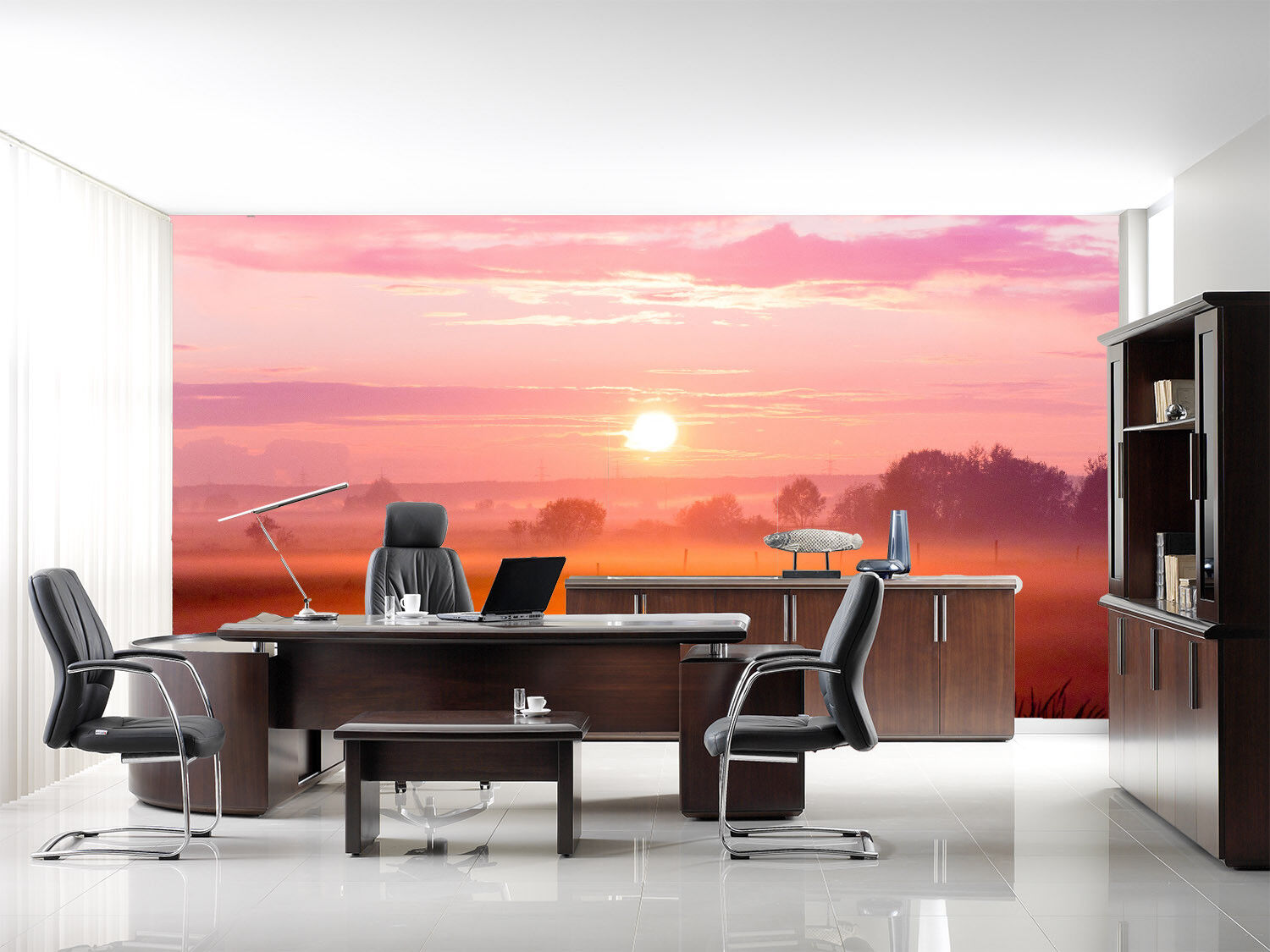 3D Pink Sunset Sky 66 Wall Paper Wall Print Decal Wall Deco Indoor Mural Lemon