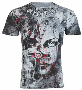 AFFLICTION-Mens-T-Shirt-CONFESSION-Tattoo-Motorcycle-Biker-Gym-MMA-UFC-Jeans-66