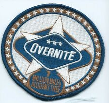 Overnite Transportation Co driver 7 million miles  patch 3-1/2 X 3-3/4 #433