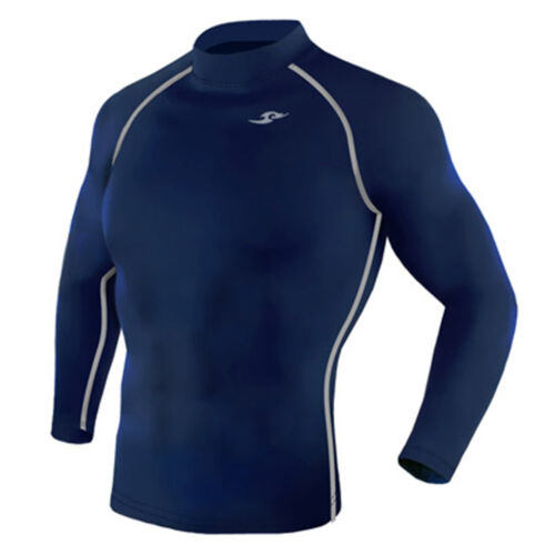 Take Five Mens Skin Tight Compression Base Layer Running Shirt S~2XL Navy 003