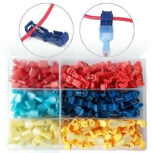 240pcs-Multicolor-T-Type-Plastic-Hard-Soft-Wire-Terminal-Splice-Crimp-Connector