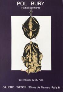 Pol Bury (1922 Belgique-2005 Paris) Affiche D'exposition Ramollissements Dali Fixation Des Prix En Fonction De La Qualité Des Produits