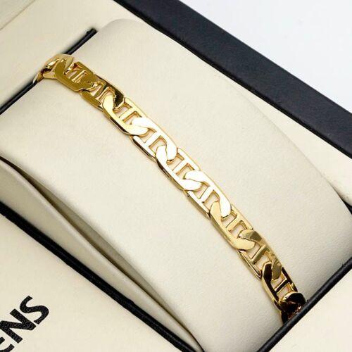 """Stud Bracelet 18K or jaune rempli 8/"""" charms chaîne de 6 mm Lien Unique Bijoux"""