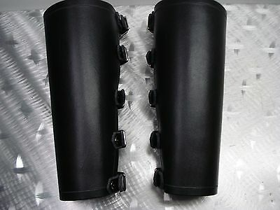 ....fimbulwinter's Quality First mdlg0336 Methodical Leather Large Black Plain Bracers...black Metal...