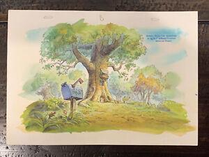 ORIGINAL BACKGROUND CEL ART Walt Disney's Winnie The Pooh TV Production Fiedler