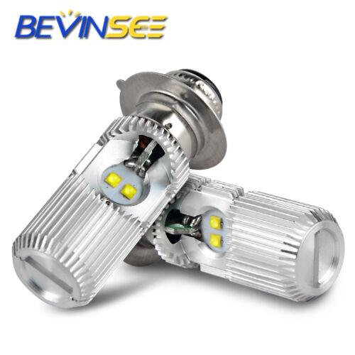 For Yamaha Grizzly 600 1998-2001 LED Headlight 2x Bulbs White YFM600F YFM600FWA