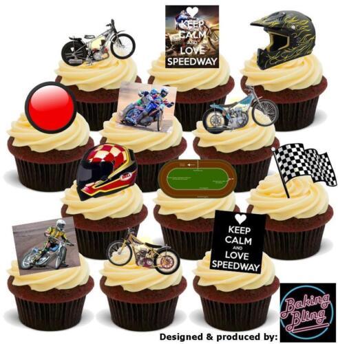 Nouveauté speedway party pack mix comestibles gâteau toppers moto casque racing garçons