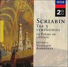 Scriabin: The 3 Symphonies; Le PoŠme de l'extase (CD, Mar-2000, 2 Discs, Decca)