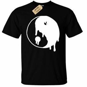 Design By Humans Yin Yang Cats Girls Youth Graphic T Shirt