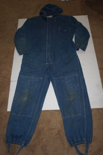 VINTAGE  1940'S DENIM COVERALL OVERDIER MFG CORP