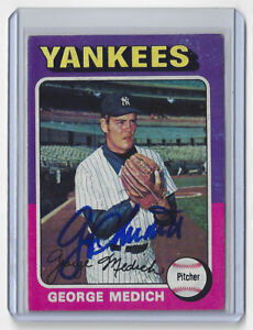1975-YANKEES-George-Doc-Medich-signed-card-Topps-426-AUTO-Autographed-New-York